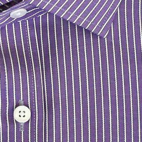 Zoomed in Photo of the Bordered Stripe Dress Shirt in Purple