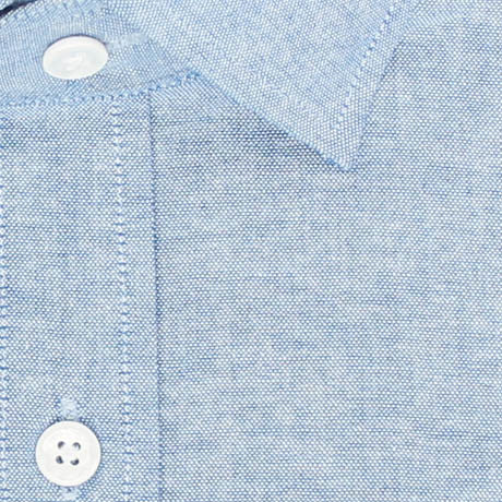 Zoomed in Photo of the Chambray Casual Shirt in Blue