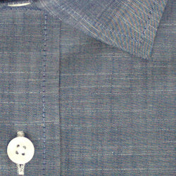 Zoomed in photo of Chambray Casual Shirt in Midnight Blue