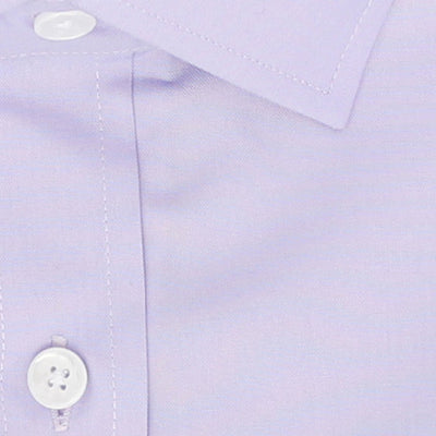 Zoomed in Photo of the Diamond Solid Dress Shirt in Lavender