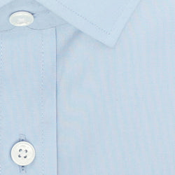 Zoomed in Photo of the Diamond Solid Dress Shirt in Light Blue