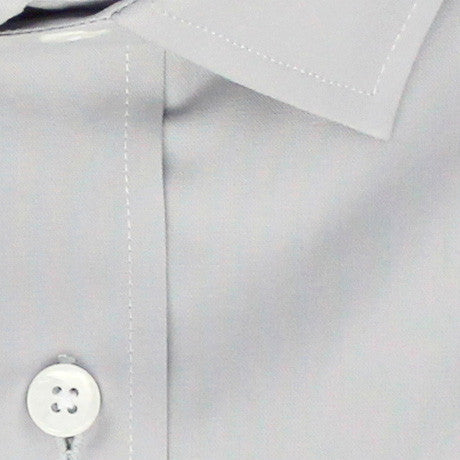 Zoomed in Photo of the Diamond Solid Dress Shirt in Light Gray