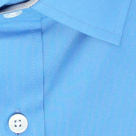 Zoomed in Photo of the Diamond Solid Dress Shirt in Sky Blue