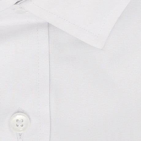 Zoomed in Photo of the Diamond Solid Dress Shirt in White
