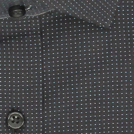 Zoomed in Photo of the Dots Casual Shirt in Black / Light Blue