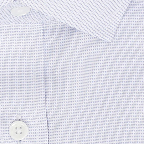 Zoomed in Photo of the Dots Dress Shirt in Periwinkle on White