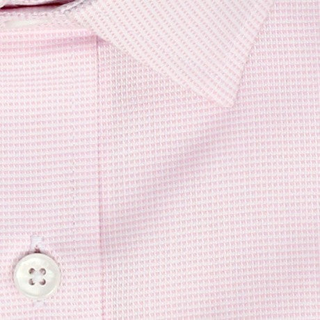 Zoomed in Photo of the Dots Dress Shirt in Soft Pink on White
