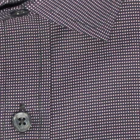 Zoomed in Photo of the Dots Soft Canvas Casual Shirt in Pink on Black