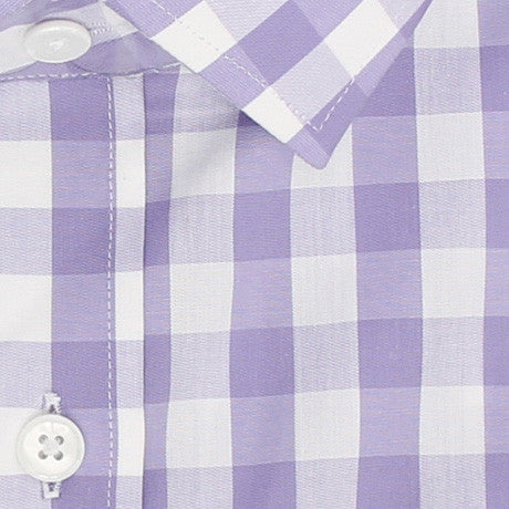 Zoomed in Photo of the Gingham Casual Shirt in Lavender