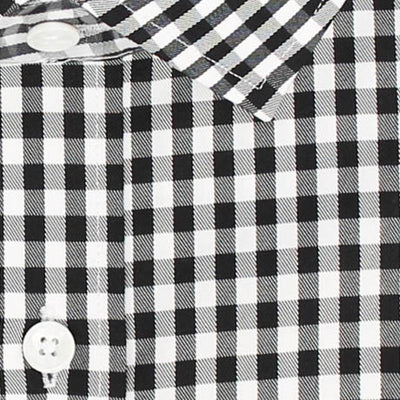 Zoomed in Photo of the Gingham Twill Casual Shirt in Black