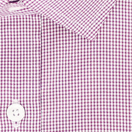 Zoomed in Photo of the Houndstooth Grid Twill Dress Shirt in Burgundy