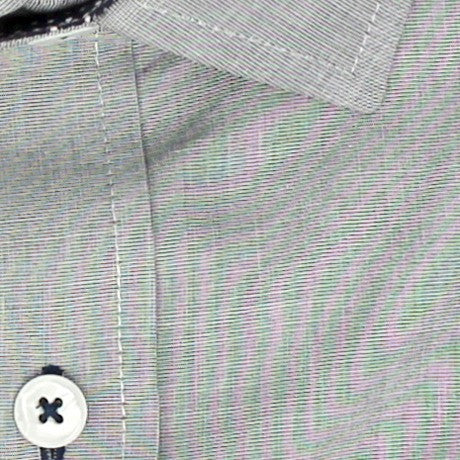 Zoomed in Photo of the Luxe Textured Solid Casual Shirt in Gray