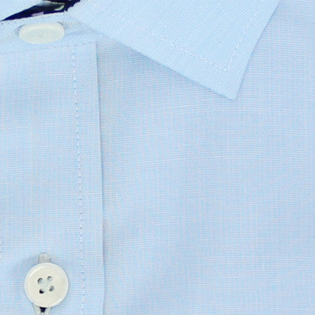 Zoomed in Photo of the Luxe Textured Solid Casual Shirt in Light Blue
