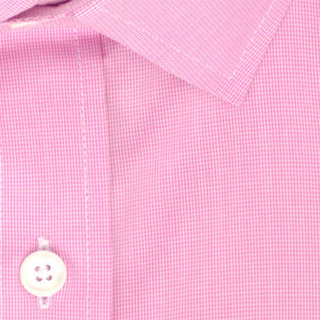 Zoomed in Photo of the Microgrid Dress Shirt in Pink
