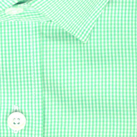 Zoomed in Photo of the Mini Gingham Casual Shirt in Mint Green