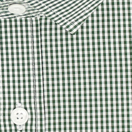 Zoomed in Photo of the Mini Gingham Dress Shirt in Green