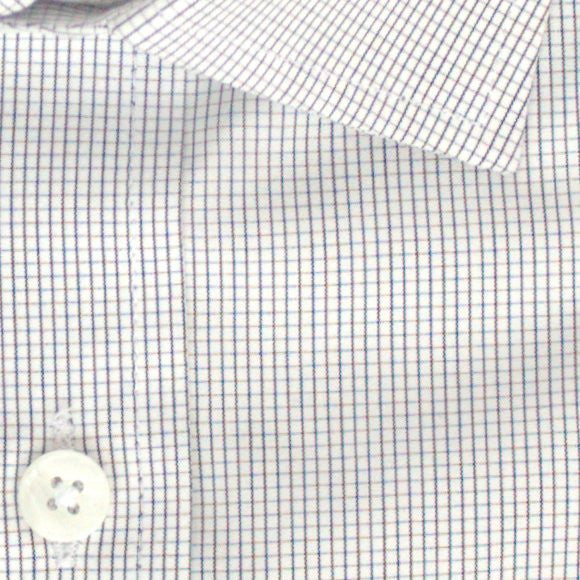 Zoomed in photo of Mini Grid Dress Shirt in Black