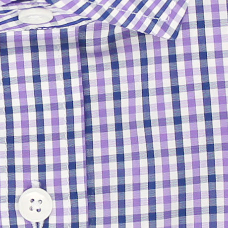 Zoomed in Photo of the Multicolor Gingham Casual Shirt in Lavender / Midnight Blue