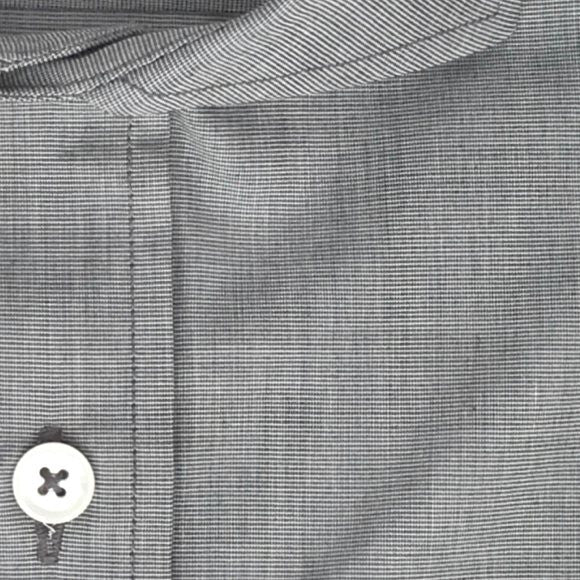 Zoomed-in Photo of Non-Iron End-on-End Dress Shirt in Gray