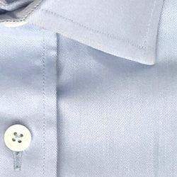 Zoomed-in Photo of Non-Iron Twill Dress Shirt in Light Blue