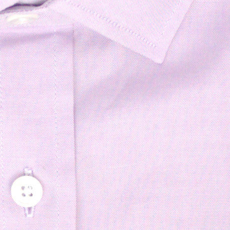 Zoomed in Photo of the Oxford Solid Dress Shirt in Purple