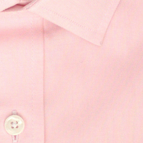 Zoomed in Photo of the Oxford Solid Dress Shirt in Soft Pink