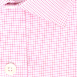 Zoomed in Photo of the Pinpoint Oxford Grid Dress Shirt in Pink