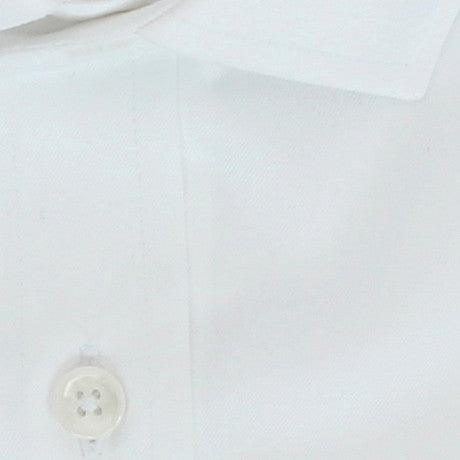 Zoomed in Photo of the Premium Twill Solid Dress Shirt in White