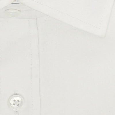 Zoomed in Photo of the Solid Herringbone Dress Shirt in White