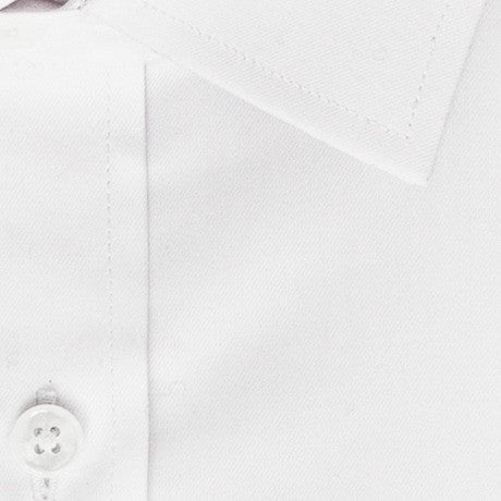 Zoomed in photo of the Solid Twill Dress Shirt in White