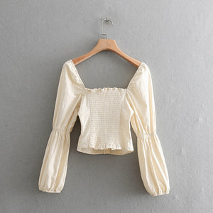 Honey - white vintage blouse