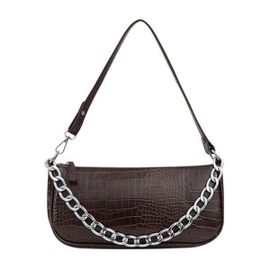 Allie - Alligator Pattern retro bag