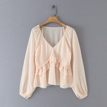 Load image into Gallery viewer, Melly - V- Neck ruffle blouse