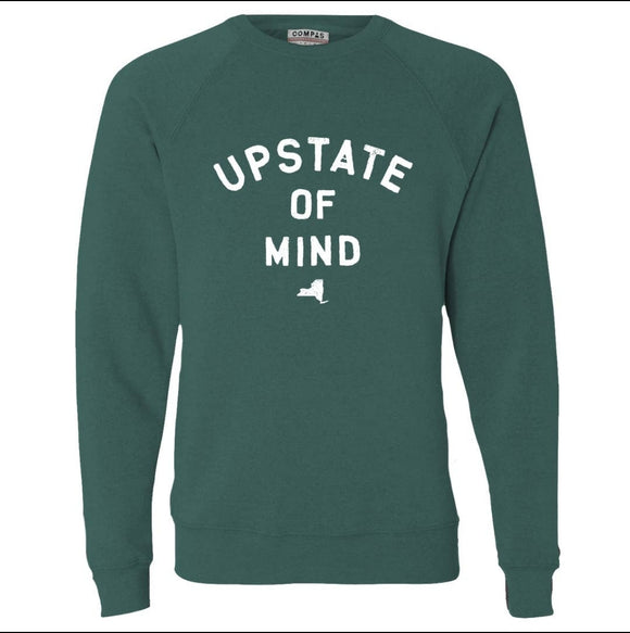 Upstate of Mind Crew Fleece - Moss Heather