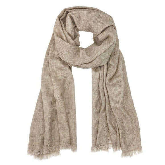 Tan colored scarf