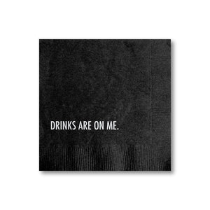 Drinks on Me Cocktail Napkin-Pretty Alright Goods-