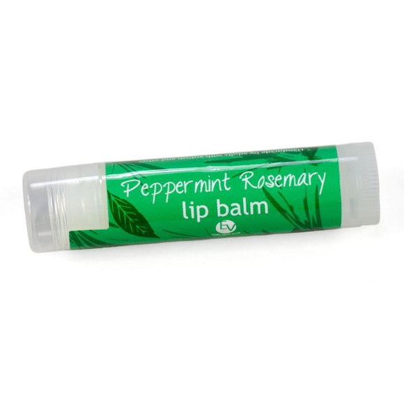 Peppermint mint rosemary stick lip balm.