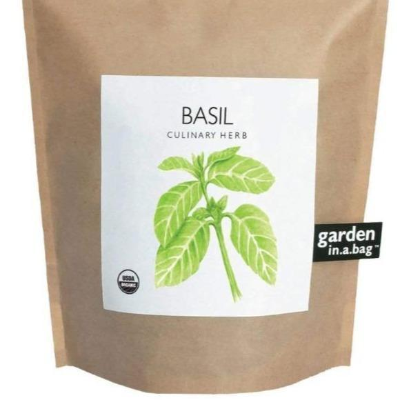 Garden in a bag, basil growing kit.