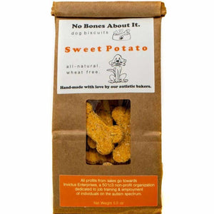A bag of sweet potato dog treats.