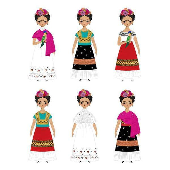 Paper dolls in different outfits.