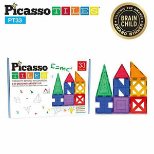 A Picasso magnetic building tile toy set.
