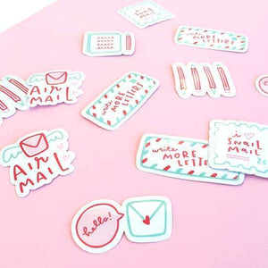 A sticker set with mail theme.