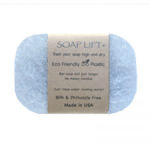 A soap lift in light blue.