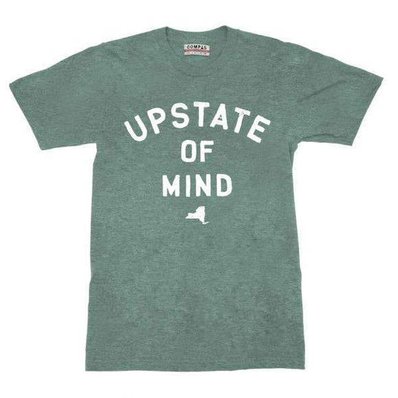 A mint green colored t-shit with a white text: