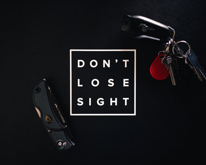 Don't Lose Sight Classic Stickers