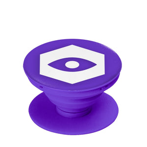 Purple Collapsible Grip & Stand for Phones & Tablets - Insomnia Eye