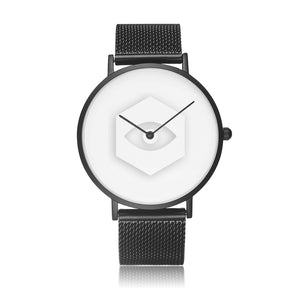 Open image in slideshow, Black Steel Strap Water-Resistant Quartz Watch - Insomnia Eye