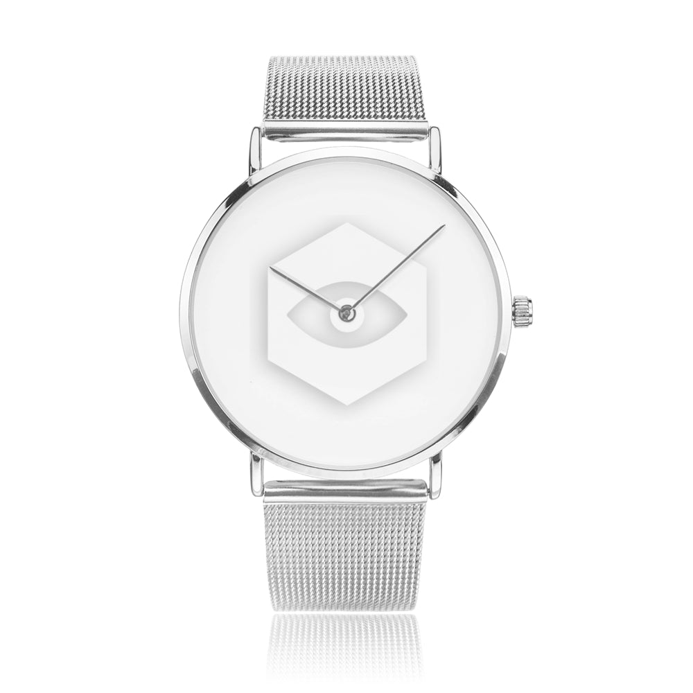 Silver Steel Strap Water-Resistant Quartz Watch - Insomnia Eye