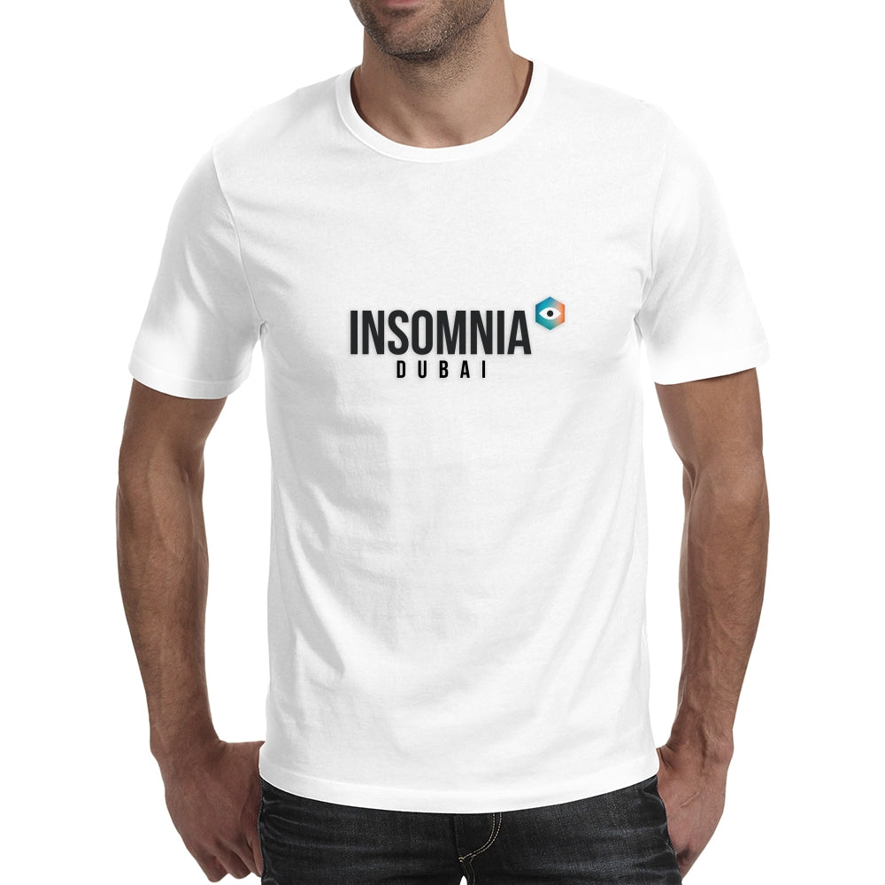 Insomnia Plain White T-Shirt