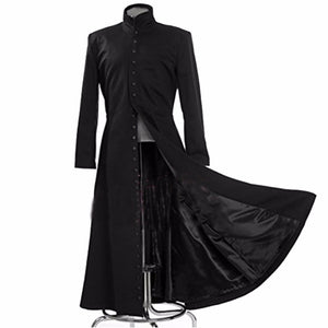 The Matrix Cosplay 2017 Black Cosplay Costume Neo Trench Coat (Coat only)